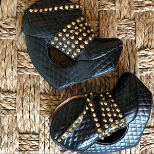 Jeffrey Campbell quilted cut-out Roxbury wedged